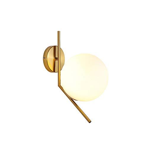 Schlafzimmer-modernen-eitelkeit (Noodei Ball-Wandleuchte, Moderne Wandleuchte Globus Glasschirm Badezimmer Eitelkeit Beleuchtung für Schlafzimmer Flur Wandleuchten Beleuchtung Deckenventilatoren (Farbe : T1, Size : Warm Light))