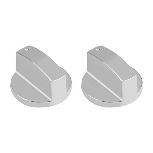 2Gasherd Knöpfe Küche Universal silber Metall Control Switch Knöpfe für Gasherd Ofen Herd 8mm -