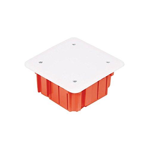 Unterputz Abzweigkasten 105x105x50 Abzweigdose, UP Gehäuse mit weißem Deckel Elektro-Plast