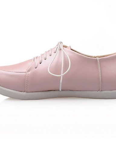 ZQ Scarpe Donna - Stringate - Casual - Punta arrotondata - Piatto - Finta pelle - Blu / Rosa / Bianco , pink-us8 / eu39 / uk6 / cn39 , pink-us8 / eu39 / uk6 / cn39 pink-us5 / eu35 / uk3 / cn34