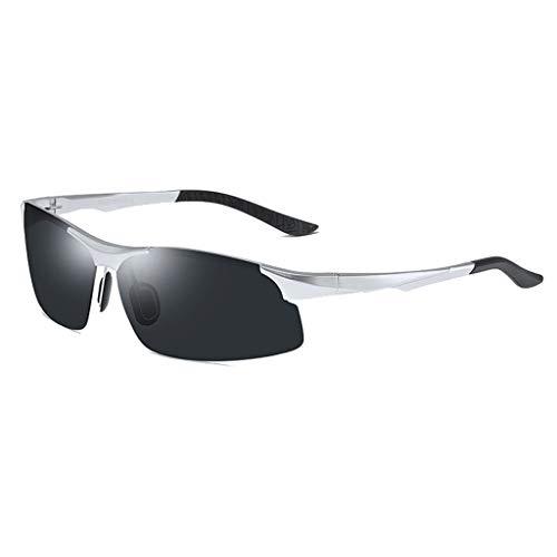 Jinxiaobei Herren Sonnenbrillen Polarisierte Sport-Sonnenbrille for Männer Frauen Polarisierte Sonnenbrille Polarisierte UV400 Sport-Sonnenbrille Superlight Frame Design (Color : Silver)