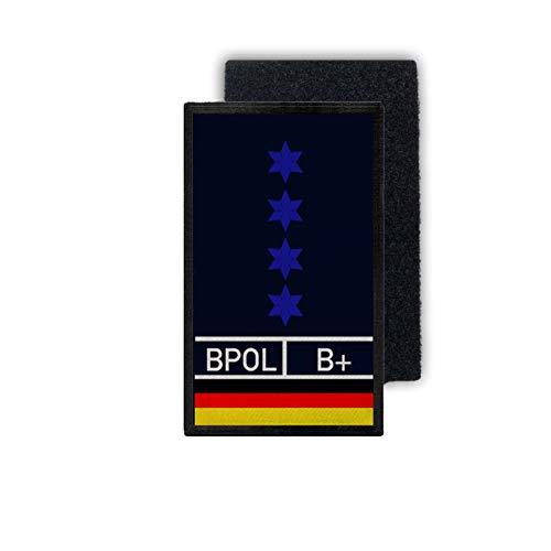 Copytec Polizeihauptmeister Patch PHM PHM Dienst Dienstkleidung 9,8x6cm#31712 -