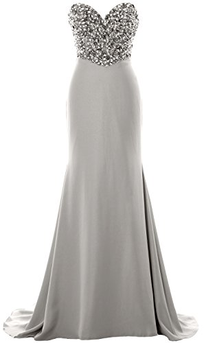 MACloth - Robe - Bandeau - Sans Manche - Femme silver