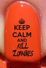 Halloween reste calme et tue les zombis - Stickers pour ongles YRNAILS