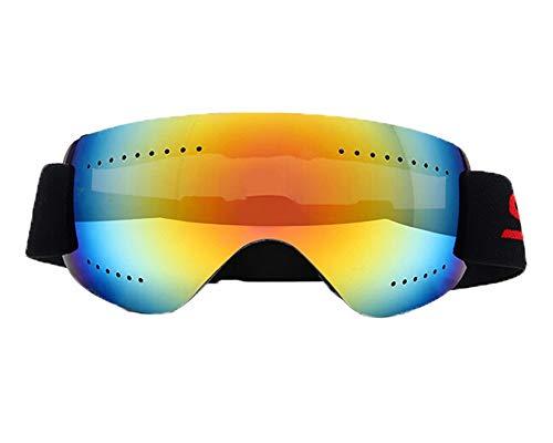 Schutzbrille Schießsport Skibrille Anti Fog Und Sanddichtes Motorrad Langlauf Brille Männer Und Frauen Erwachsene Schneebrille Klettern Red Damen Herren