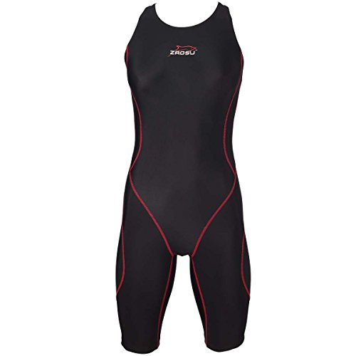 ZAOSU Damen Freiwasser-Schwimmanzug Z-Black knielang | Openwater Triathlon-Anzug bei Neoprenverbot, Größe:L