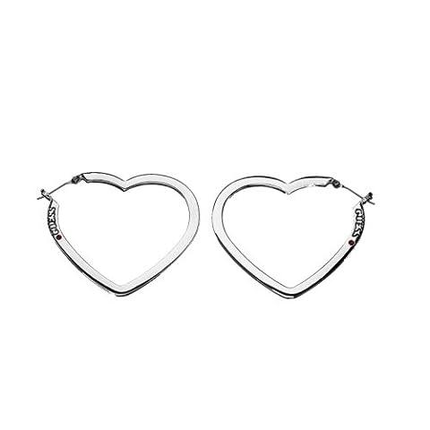 GUESS–USE81009–Femme Plat Cœur ouvert Boucles d