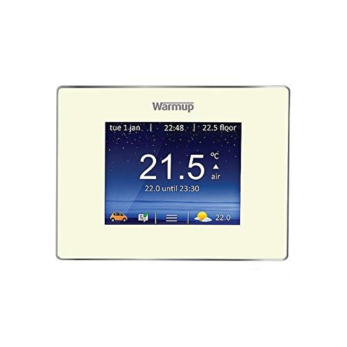 Warmup 4iE Smart Thermostat Porzellan-Weiß