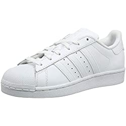 adidas Superstar, Baskets Mixte Enfant, Blanc Footwear White 0), 37 1/3 EU