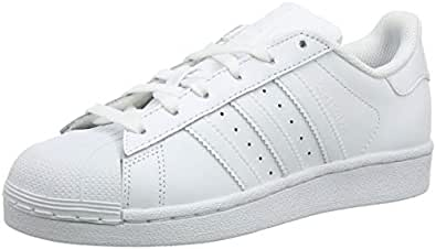adidas Unisex-Kinder Superstar Foundation Low-Top Sneaker - Weiß (Ftwr White/Ftwr White/Ftwr White) , 29 EU