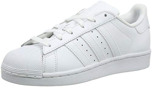 adidas Unisex-Kinder Superstar Foundation Low-Top Sneaker - Weiß (Ftwr White/Ftwr White/Ftwr White) , 38 2/3 EU - Adidas Superstar 2 Freizeitschuh