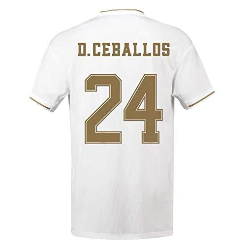 ANHPI-Jersey Daniel Ceballos Fernández # 24 Männer Fußball Trikot - Fans Sport Fußball T Shirts Kurzarmtrikots (Color : White, Size : M)