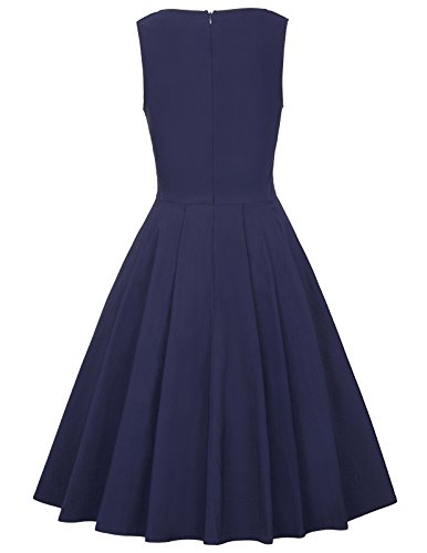 Belle Poque 50s Rockabilly Retro Vintage Kleid Ärmellos Knielang Swing Kleider BP436 BP436-2