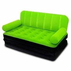 Comfortquest Double Velvet Sofa Cum Bed Air Lounge Inflatable, Bestway Comfort Quest