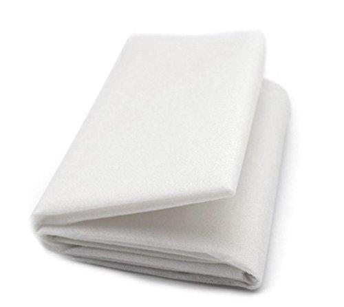 ZADAWERK® Bügelvlies - 40+18 - Mittel - Weiß - 90 x 100 cm