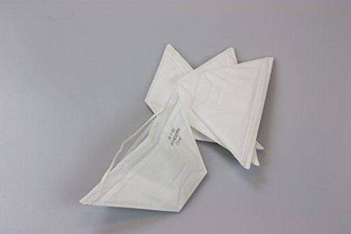 20x Einweg Staubschutzmaske FFP1 gefaltet, Schutz gegen Feinstaub (20 Stück) -