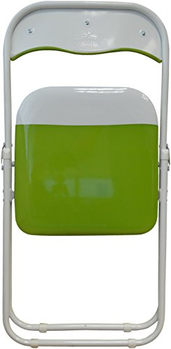 Harbour Housewares Green / White Padded, Folding, Desk Chair - Pack of 6