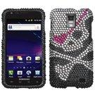 ASMYNA sami727hpcdm012np Dazzling Diamant mit Schutzhülle für Samsung Galaxy S2Skyrocket-1Pack-Retail Verpackung-Totenkopf -