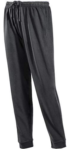 PHINOMEN Bequeme Schwarze Jogginghose Größe XL - Unisex Classic Model mit Seitentaschen und Bündchen - Freizeithose für jeden Tag auch für Herren -