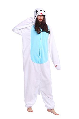 play Kostüme Kigurumi Tiere Schlafanzug Erwachsene Strampelanzug Anime Hoodie Nachtwäsche Blue Sea Lion XL (Sea Lion Kostüme)