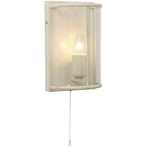 Oaks Lighting Fern - Aplique de pared (paneles de cristal transparente), color beige y dorado envejecido
