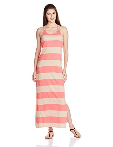 People Women's Cotton A-Line Dress (P20401064848176_Cock Tail Pink_XL)  available at amazon for Rs.599