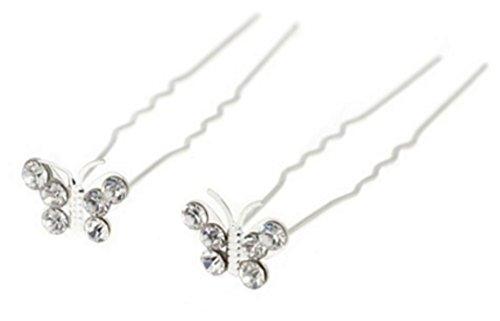 12-er Set Haarnadeln Schmetterling Butterfly Strass Perlen Blumen Blüten Haarschmuck Hochzeit Braut Kommunion Tiara