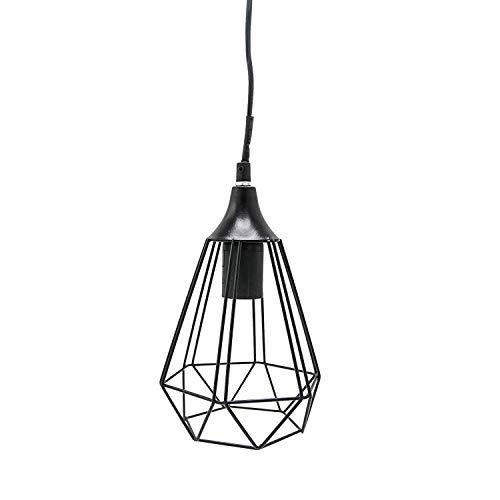 Rebecca Mobili Lámpara geometrétrica colgante, luz interior, lámpara suspendida, negra, en metal, Max 25 Watt E14 - Cable 80 cm - Pantalla 25 x 13,5 x 15,5 cm (AxAnxF) - Art. RE6267