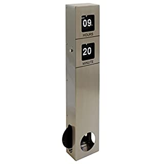AIC - International 11944Flip Flap Wanduhr Pendel Metall Edelstahl 9,5x 5,5x 47,5cm