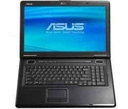 """Asus X71SL-7S014C Intel Core 2 Duo T5450 RAM 3 Go HDD 250 Go DVD±RW (±R DL) NVidia GeForce 9300M GS LAN sans fil : 802.11a.b.g Vista Home Premium 17"""" écran large TFT 1440x900 (WXGA+) Color Shine caméra"""
