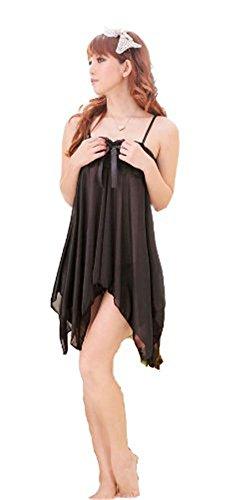 Demarkt® Sexy Lingerie de Robe de Nuit en Bretelle pour les Femmes avec Couleur Disponible/Taille Unique Noir