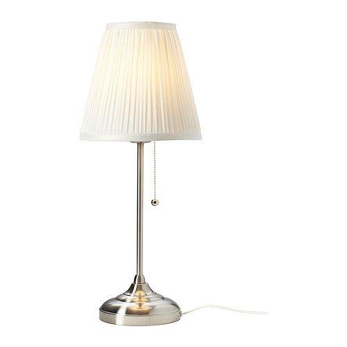 IKEA ÅRSTID Tischleuchte, vernickelt, Weiß