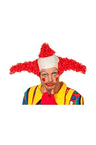 Jannes Perücke Clown Coco mit Glatze Herren Rot Clownsperücke Herrenperücke (Simpsons Krusty Der Clown Kostüme)