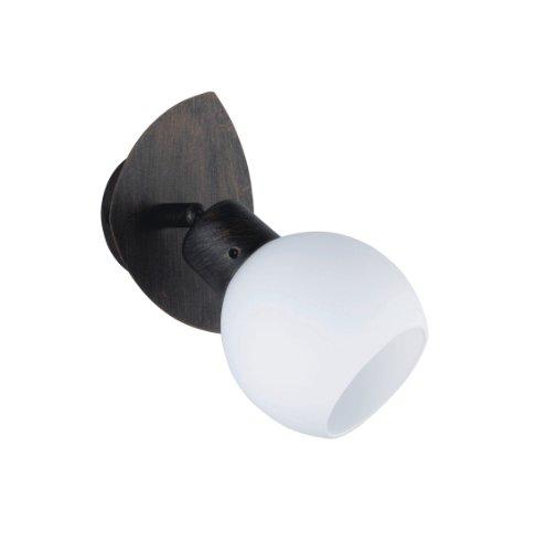 Trio Leuchten LED-Spot rostfarbig antik, inklusiv 1x E14, 4 Watt LED, 13x9 cm, Glas opal matt weiß...