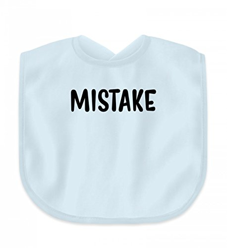 SwayShirt Hochwertiges Baby Lätzchen – Mistake Fehler - Lustiges Babybody Strampler Spruch Geburt Geschenk Für Eltern mit Humor