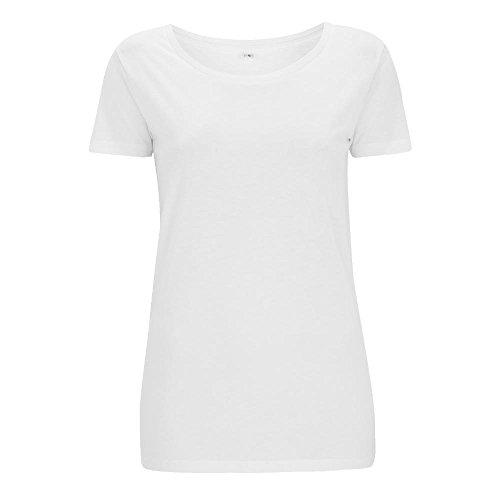 Continental - Women's Bamboo Open Neck T-Shirt / White, L (Open Neck Womens)
