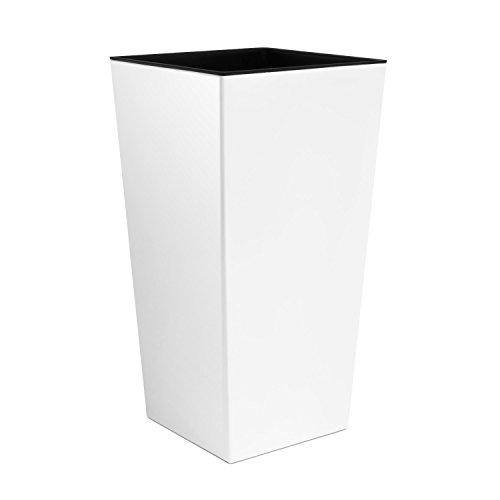 Prosperplast Blumentopf, weiß, 40x40x75 cm, DURS400-S449