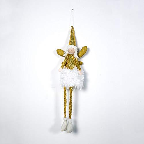 WEISY Decorazioni Natalizie Albero di Natale Ciondolo Ornamento Angelo Ragazza Bambola Ricamati Regali con Paillettes
