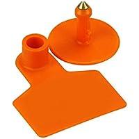 Plástico Universal ganado no palabras etiqueta herramienta para Pig Identificación oreja etiqueta, Paquete de 100unidades), color naranja
