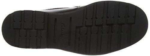 Clarks PadleyLace GTX, Herren Derby Schnürhalbschuhe Schwarz (Black Leather)