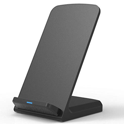 Fast Wireless Charger Qi-Certified Wireless Charging Stand Compatible iPhone XS MAX/XR/XS/X/8/8 Plus,10W Compatible Galaxy S10/S10 Plus/S10E/S9 (Executive-schreibtisch-telefon)