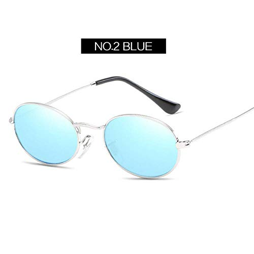 YHEGV Retro kleine runde Sonnenbrille-Frauen-Art- und Weiseweinlese-Brillen-weiblicher Metallrahmen Uv400 Sun Glasses Shades