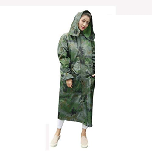 Yuany Regenmantel Erwachsene Wandern koreanische Mode Männer und Frauen Regenmantel Langen Mantel Lange Outdoor-Reise Regenmantel (Farbe: I-L)