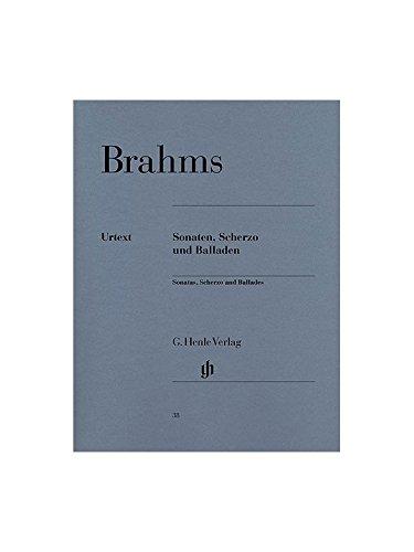 BRAHMS - Sonatas, Scherzo y Baladas para Piano (Urtext)