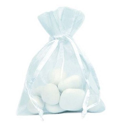 Chal - Sachet organdi blanc x10