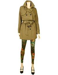 ililily Jacke: Zweireihiger Trench Coat mit Reverskragen