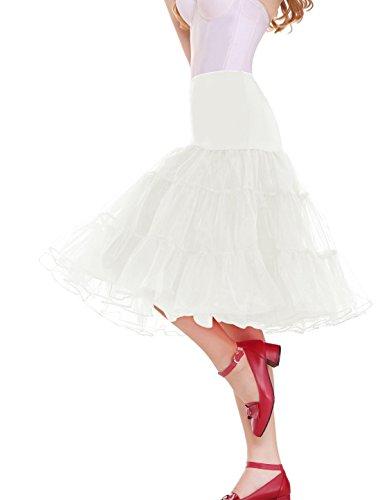 Sarahbridal Damen Ballon Petticoat Reifrock für Brautkleid Abendkleider Ballkleid Crinoline Unterrock S12004 Elfenbein-018