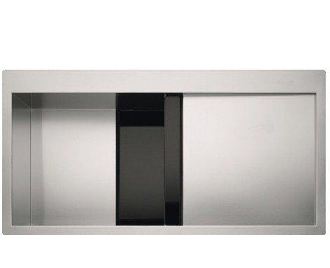 Franke CLV-614-I – Fregadero (Fregadero bajo encimera de cocina, Plaza, Acero inoxidable, Negro, 1 senos, 470 mm)