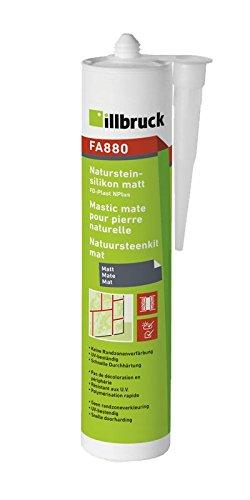 Illbruck FA880 Naturstein-Silikon MATT Kartusche 310ml - transparent