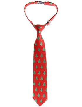 Retreez Árbol de Navidad Patrón Tejido PRE-TIED Boy 's Tie–varios colores